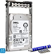 Dell 2TB 7.2K RPM SAS 12Gb/s 2.5-Inch | SED | SFF HDD | Y6W8N | Seagate Exos 7E2000 ST2000NX0453 | Server Hard Drive in G13 Tray for PowerEdge Bundle with Compatily Caddy-Install Screwdriver Kit
