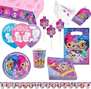 amscan- Set de fiesta Shimmer & Shine, Multicolor (1