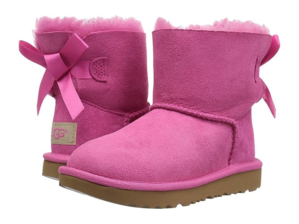 UGG Kids Mini Bailey Bow II (Toddler/Little Kid) (Pink Azalea) Girls Shoes
