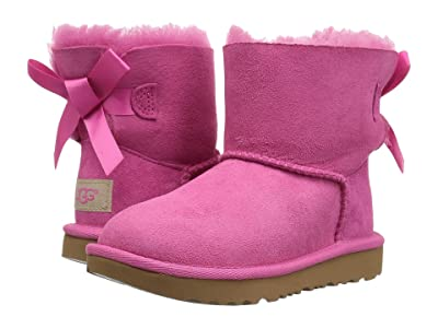 UGG Kids Mini Bailey Bow II (Toddler/Little Kid) (Pink Azalea) Girls Shoes