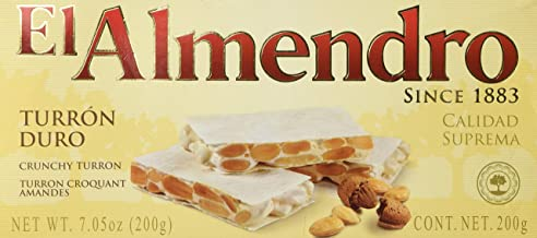 El Almendro Crunchy Almond Turron (3 PACK 7.05oz Each Bar)