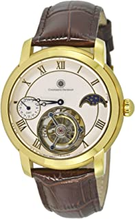 Constantin Durmont - Reloj analógico para Hombre de Manual con Correa en Piel CD-TOUL-TBWD24-LT-GDGD-WH