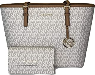 0865483ee137 MICHAEL Michael Kors Jet Set Travel MD Carryall Tote bundled with Michael  Kors Jet Set Travel