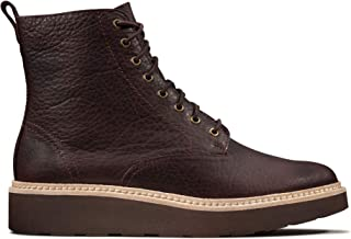 Clarks Women's Trace Pine Boot, Burgundy Leather, 10