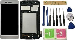 Flügel para LG K8 ( 2017 ) Aristo M210 MS210 US215 M200N Pantalla LCD pantalla Silver Táctil digitalizador Completo Pantalla ( con marco ) de Recambio & Herramientas