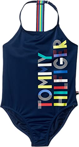 Tommy Hilfiger Kids Rainbow One-Piece Swimsuit (Toddler)
