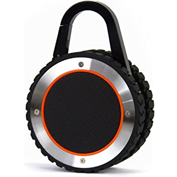 FRESHeTECH All-Terrain Sound Rugged Bluetooth Speaker, Rugged Outdoor Wireless Waterproof Bluetooth Speaker – Black