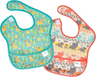 Bumkins Lion King Simba SuperBib, Baby Bib, Waterproof, Washable, Stain and Odor Resistant, 6-24 Months (Pack of 2)