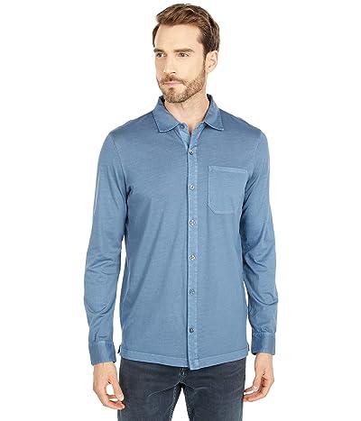 Mod-o-doc Santa Monica Long Sleeve Button Front Shirt (Smokey Blue) Men