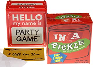Hello My Name is & in A Pickle Party Game Bundle
