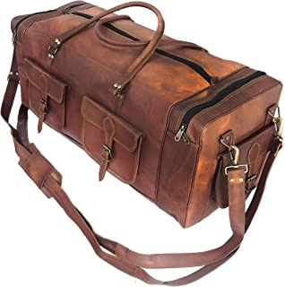 """KK's 30 Inch Real Goat Leather Large Handmade, vintage brown, Size 30"""" Inch"""