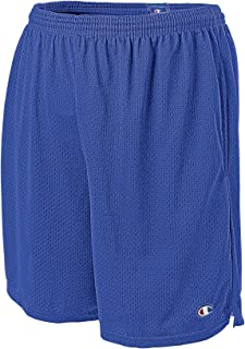 Champion Men's Long Mesh Short with Pockets, Team Blue, XXXX-Large