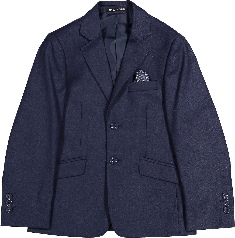 Armando Martillo Boys Solid Blazer Jacket (Slim, Regular & Husky Fit) - Off Navy, 8