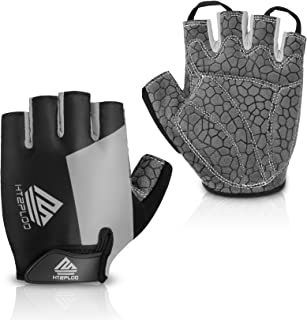 HTZPLOO Bike Gloves Bicycle Gloves Cycling Gloves Mountain Biking Gloves with Anti-Slip Shock-Absorbing Pad Breathable Half Finger Outdoor Sports Gloves for Men&Women