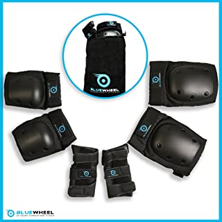 comprar comparacion Equipo Protector PS200 de Bluewheel para patinetas, Patines en línea, Bicicletas BMX, monopatines; Kit Protector con óptim...