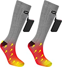 Rrtizan Heated Socks, Upgraded Rechargeable Electric Socks, Winter Thermal Sock with Large Capacity Battery for Men Women Hiking Camping Skiing Fishing Hunting