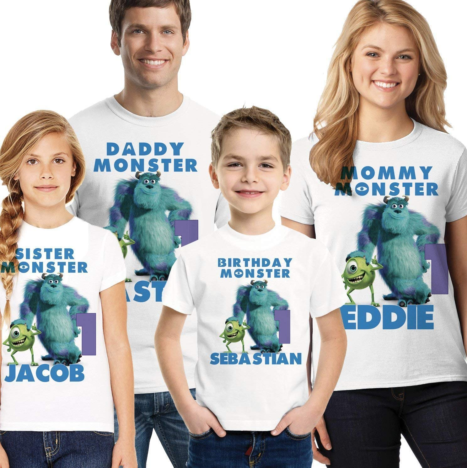 Monsters INC Very popular sold out Birthday Shirt Mike Inc Sully Monster and Fa