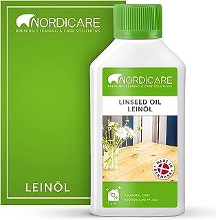 Nordicare Aceite de linaza [250 ml] para madera para protección de madera, aceite de linaza para interiores, aceite de lin...