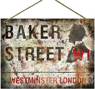 Sherlock Holmes Baker St Retro Vintage Metal Sign Plaque Advertising Wall Art