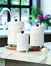 Mud Pie Kitchen Canister (Set of 3), White
