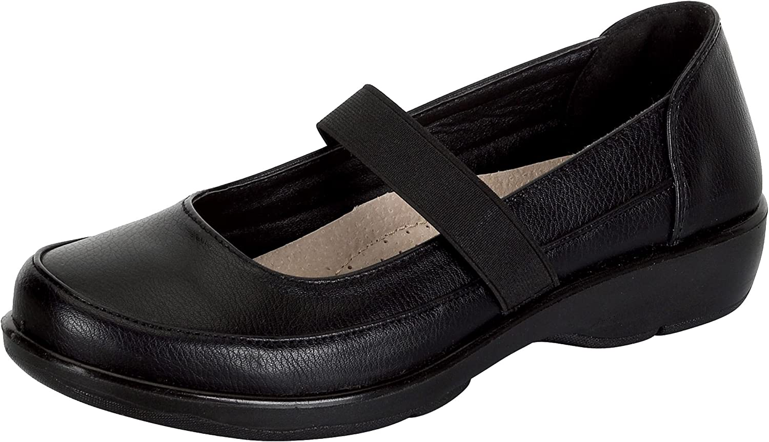Refresh Footwear Women's Comfort Mary Jane Stretch Loafer