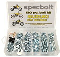 Specbolt Fasteners 120pc Maintenance Restoration OE Spec Motorcycle Bolt Kit for Suzuki RM 2 Stroke MX Dirtbike RM60 RM65 RM80 RM85 RM100 RM125 RM250 60 65 80 85 100 125