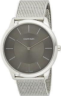 Calvin Klein Men's Quartz Watch, Analog Display and Stainless Steel Strap K3M2T124