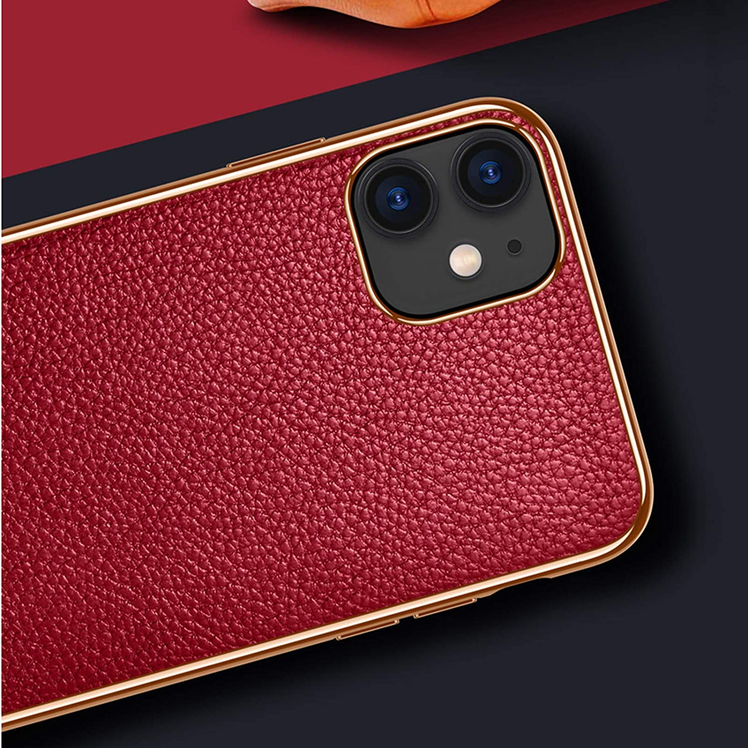 QGGESY Ultra-thin business leather grain mobile phone case protective case mobile phone protective cover suitable for iPhone 12 mini,iPhone 12 //12Pro,iPhone 12 Pro max series,