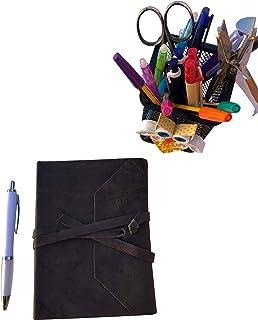 CG - Talento Fiorentino, quaderno, agenda, diario, libro muto rivestito in vera pelle effetto stropicciato vintage col. Gr...