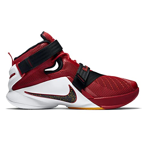67552a9f2a30 NIKE Lebron Soldier IX Men US 10 Red Basketball Shoe