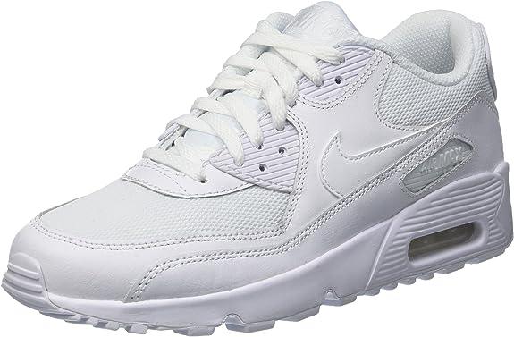 Nike Air Max 90 Mesh Gs, Scarpe da Ginnastica Bambino, Bianco ...