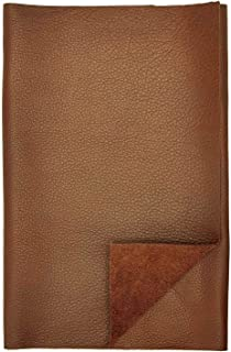 REED LEATHER HIDES - COW SKINS VARIOUS COLORS & SIZES (8 inches X 11 Inches, BROWN)