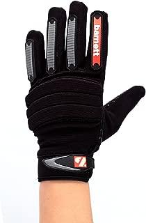 barnett FKG-02 fit linebacker football gloves, LB, RB, TE black (XL) by Barnett