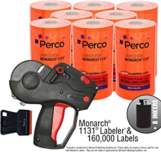Monarch 1131 Price Gun with Labels Value Pack: Includes Monarch 1131 Pricing Gun, 160,000 Flou. Red Marking Labels, Bonus Inkers