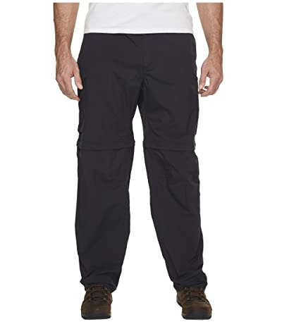 Columbia Big Tall Silver Ridge Convertible Pant (Black) Men