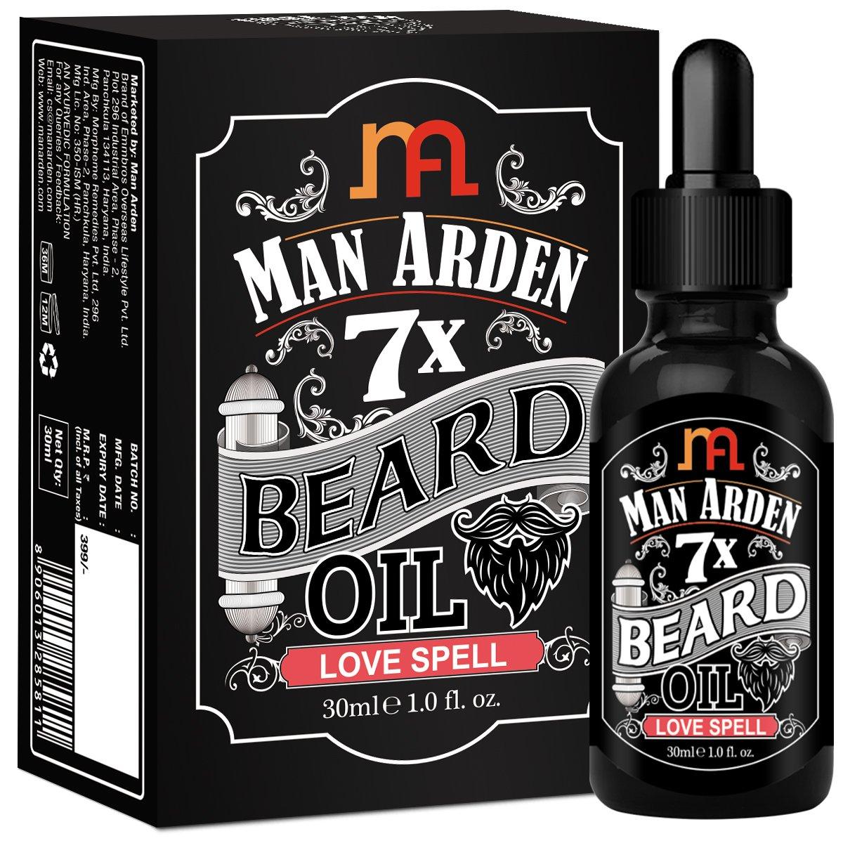つば成功する政治的Man Arden 7X Beard Oil 30ml (Love Spell) - 7 Premium Oils Blend For Beard Growth & Nourishment