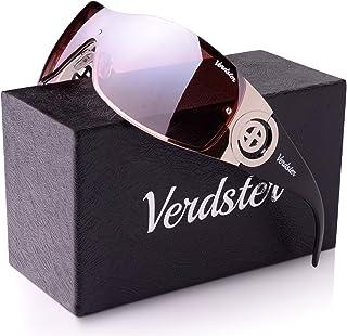 Verdster Casual Shield Sunglasses For Women - Rimless Gradient Design