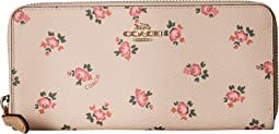 COACH Accordion Zip Wallet With Floral Bloom Print