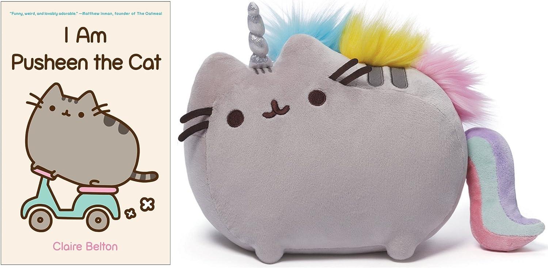 I am Pusheen the Cat Book, Pusheen Unicorn Plush Bundle