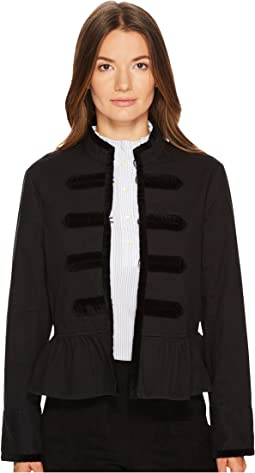 Kate Spade New York - Velvet Trim Military Jacket