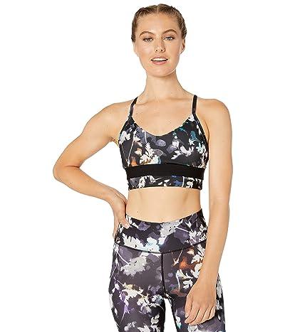 Nike Indy Floral Long Line Bra (Black/White/White) Women