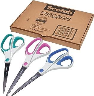 Scotch Precision Ultra Edge Scissors, 8 Inch, 3-Pack (1458-3AMZ)