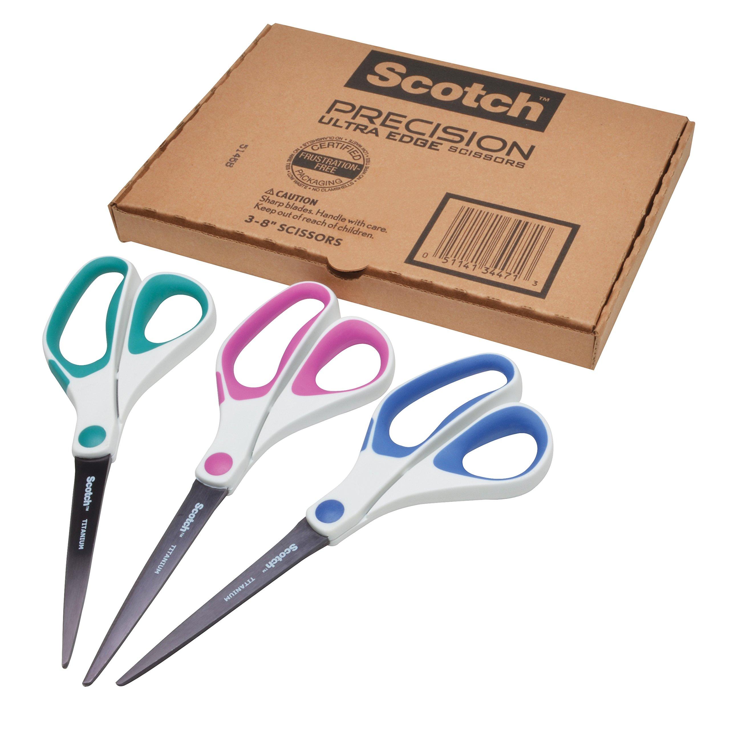 Scotch Precision Scissors 3 Pack 1458 3AMZ