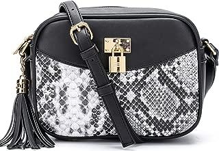 Fashion Crossbody Bag, Trendy Padlock Tassel Design, Adjustable Strap Shoulder Purse