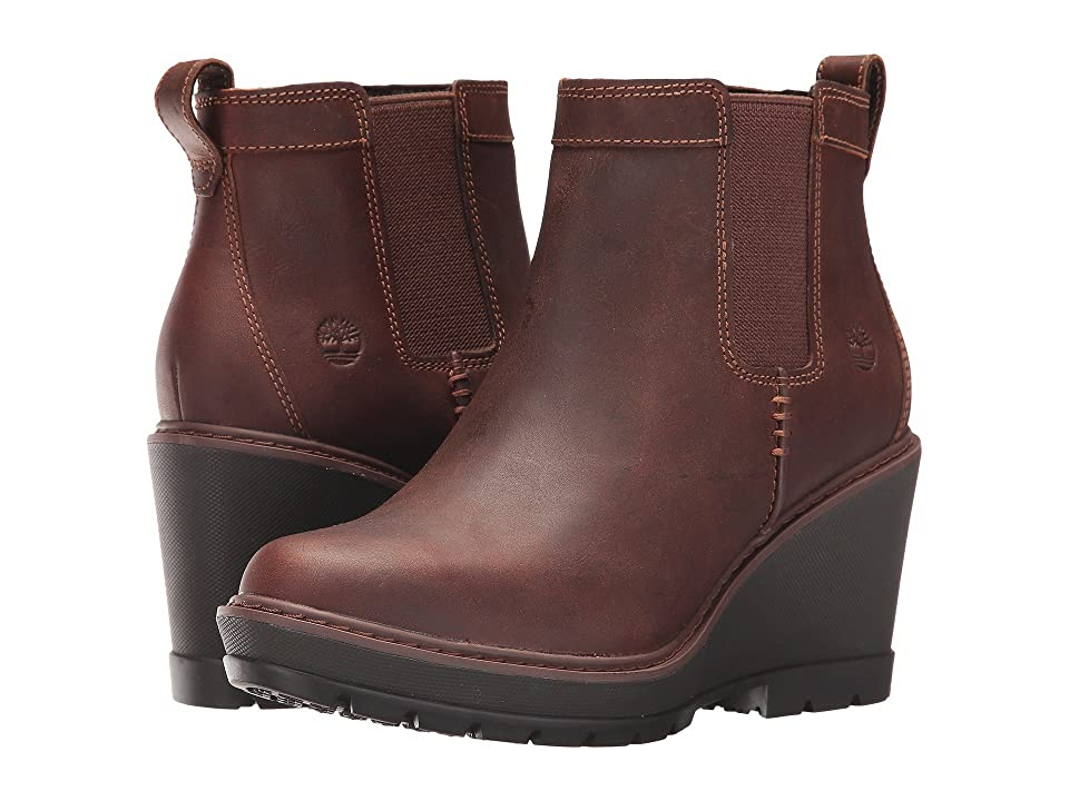 Timberland Kellis Double Gore Chelsea Boot (Medium Brown Full-Grain) Women