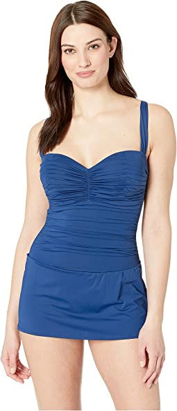 Shirred Bandeau Mio with Underwire
