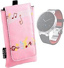 DURAGADGET Estuche Acolchado para Alcatel OneTouch Watch - Diseño Musical Color Rosa - con Cierre De Cierre De Gancho Y Bucle Y Trabilla para El Cinturón