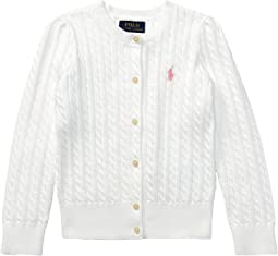 Polo Ralph Lauren Kids - Cable Knit Cotton Cardigan (Little Kids)