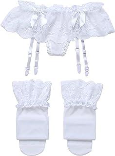 Cszxx Kousenhouder dames en kousen sexy kanten panty jarretels