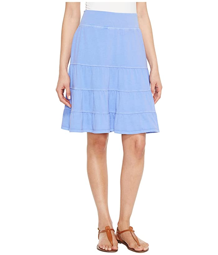 Fresh Produce Jersey Tiered Skirt (Periwinkle) Women